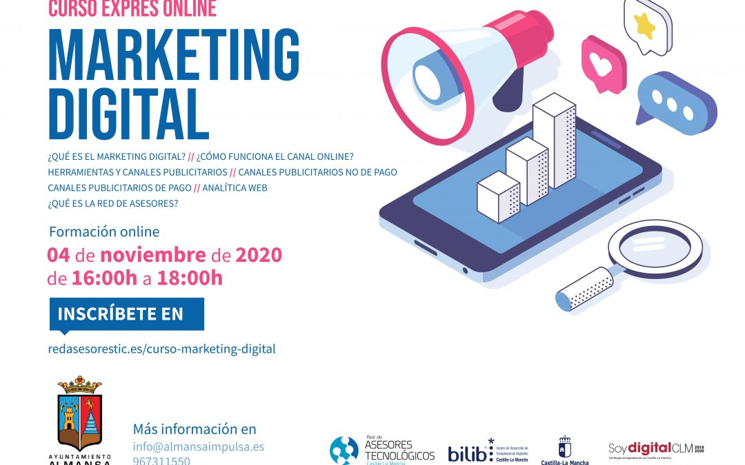 Curso Exprés Online de MARKETING DIGITAL |  4 de noviembre 2020