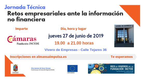 Jornada: Retos empresariales para Pymes ante la Información NO FINANCIERA | 27 de junio de 2019