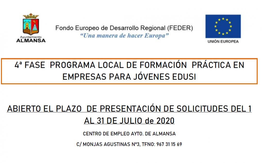 4ª Fase del Programa local de formación práctica en empresas para jóvenes