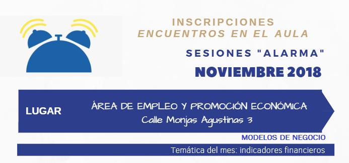 """ABIERTAS LAS INSCRIPCIONES DEL PROGRAMA DESPERTADOR, SESIONES """"ALARMA"""" NOVIEMBRE 2018"""