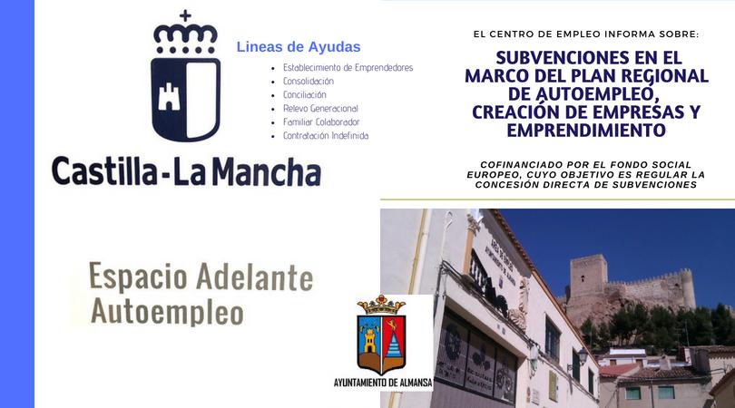 Información sobre subvenciones y ayudas del Plan Regional de Autoempleo de Castilla La Mancha