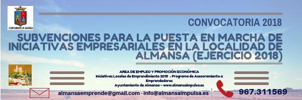 Abierto el plazo para solicitar las ayudas del Ayuntamiento de Almansa para la puesta en marcha de iniciativas empresariales 2018