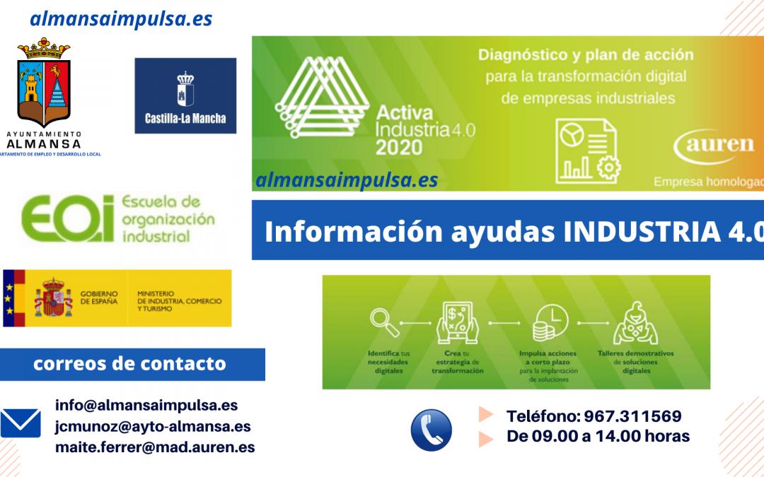 NUEVA EDICION DEL PROGRAMA ACTIVA INDUSTRIA 4.0 – Plazo 12 enero 2021