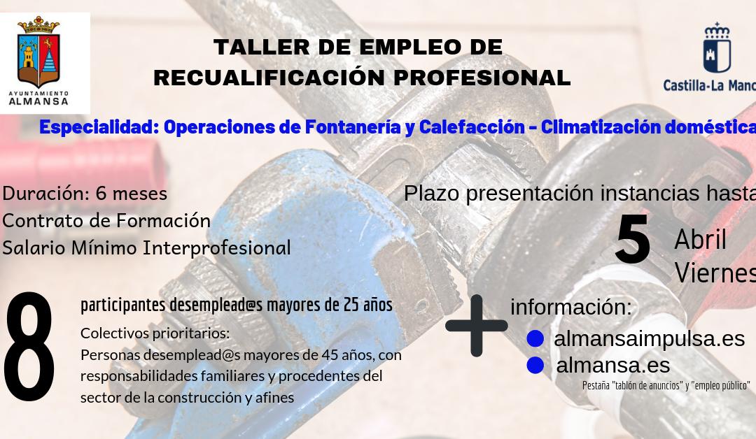 Taller de Empleo – Operaciones de Fontanería y Calefacción | Climatización doméstica