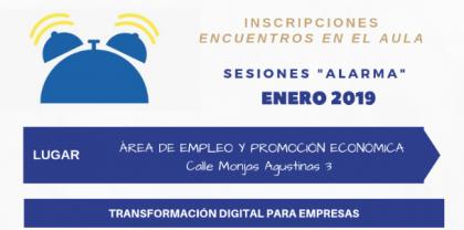 """ABIERTAS LAS INSCRIPCIONES DEL PROGRAMA DESPERTADOR, SESIONES """"ALARMA"""" ENERO 2019"""