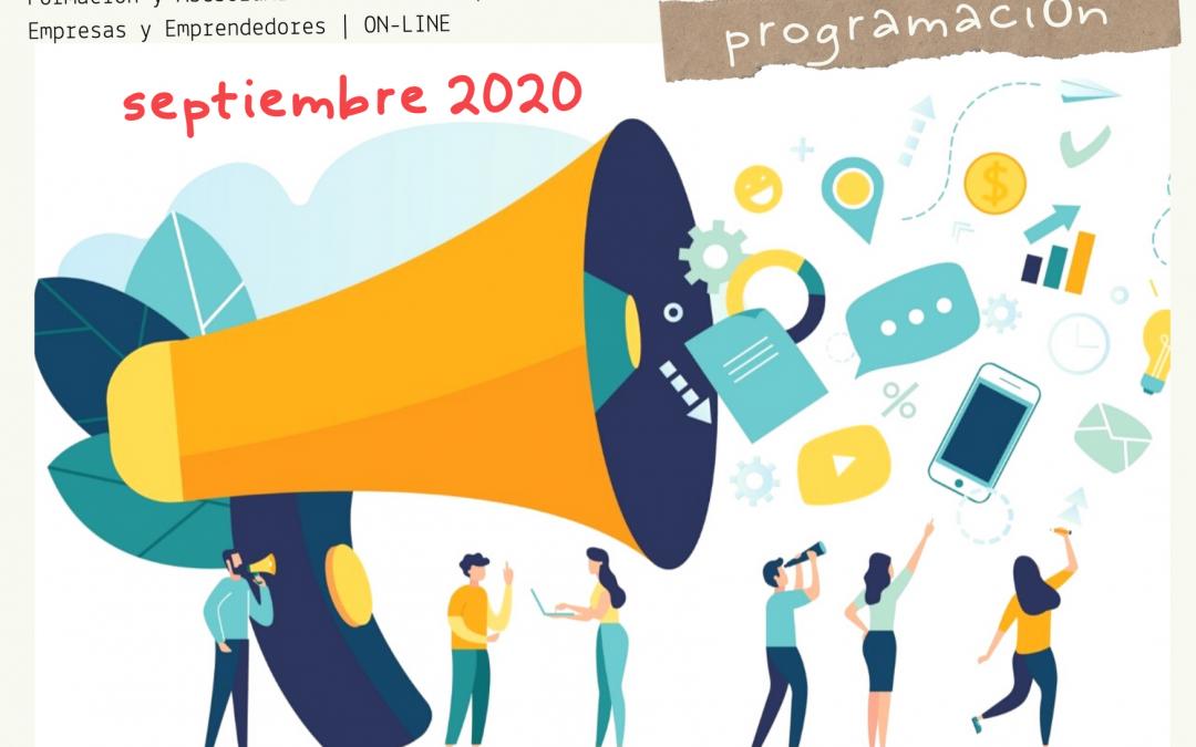 Formación Gratuita para Empresas y Emprendedores | ON-LINE    /   SEPTIEMBRE 2020