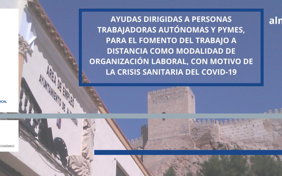 AYUDAS de la JCCM DIRIGIDAS A PERSONAS TRABAJADORAS AUTÓNOMAS Y PYMES, PARA EL FOMENTO DEL TRABAJO A DISTANCIA | Plazo 6 de noviembre 2020