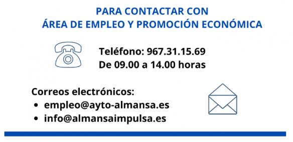 Nota Informativa sobre Atención al Público e Instalaciones | Empleo y Desarrollo Local del Ayto. de Almansa.