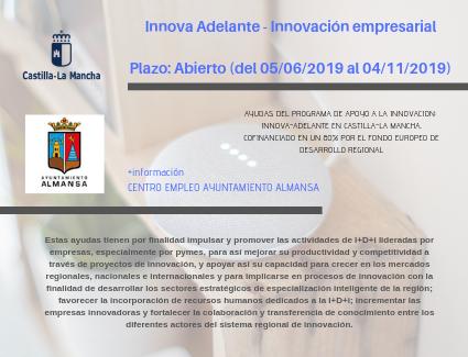 Innova Adelante JCCM –  Innovación empresarial | Abierto el plazo de solicitudes hasta el 4 noviembre 2019