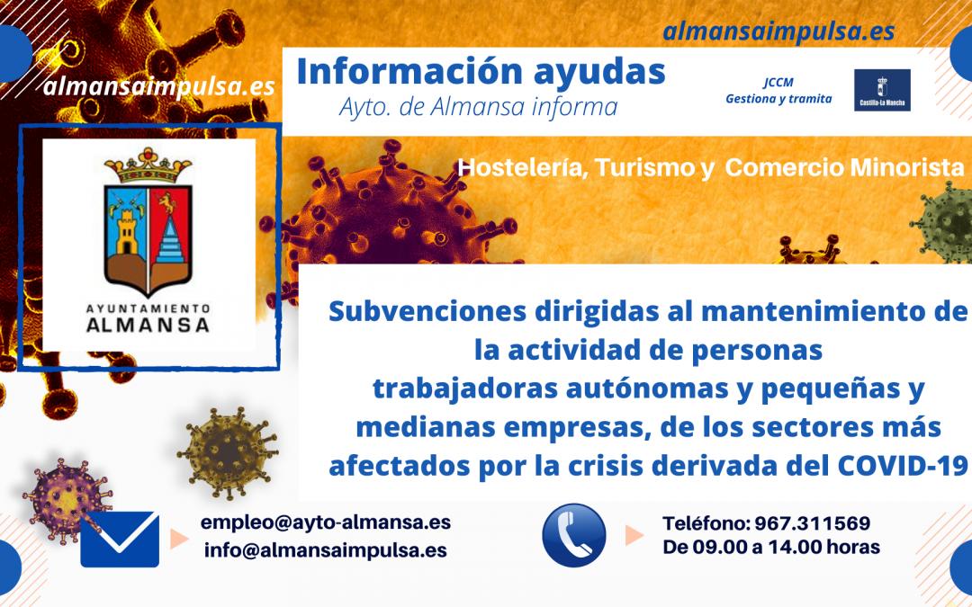 Abierto plazo de Subvenciones JCCM para el COMERCIO MINORISTA, HOSTELERÍA Y TURISMO